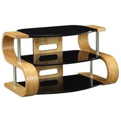 Curve 850mm Wide Wooden TV Stand