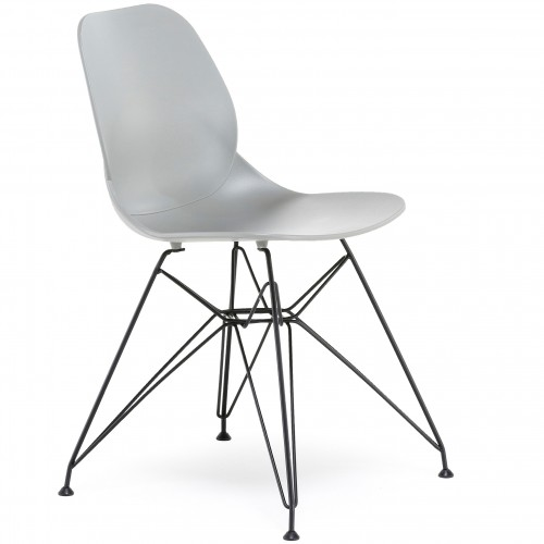 Pop Black Frame Plastic Bistro Chair