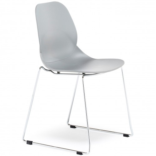 Pop Cantilever Frame Plastic Bistro Chair