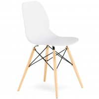 Pop Wood Frame Plastic Bistro Chair