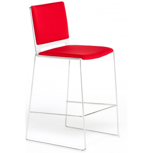 Twix Fully Upholstered High Bar Stool