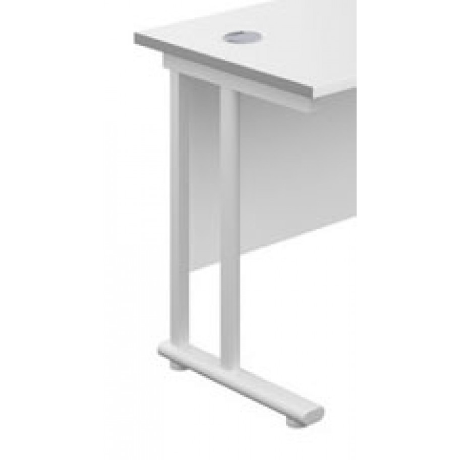 Olton 600mm Deep Cantilever Straight Office Desk