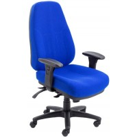 Cheetah Fabric 24 Hour Use Posture Chair - Rated 24 Stone