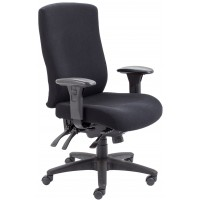 Marathon Fabric Posture 24 Hour Office Chair - Rated 24 Stone