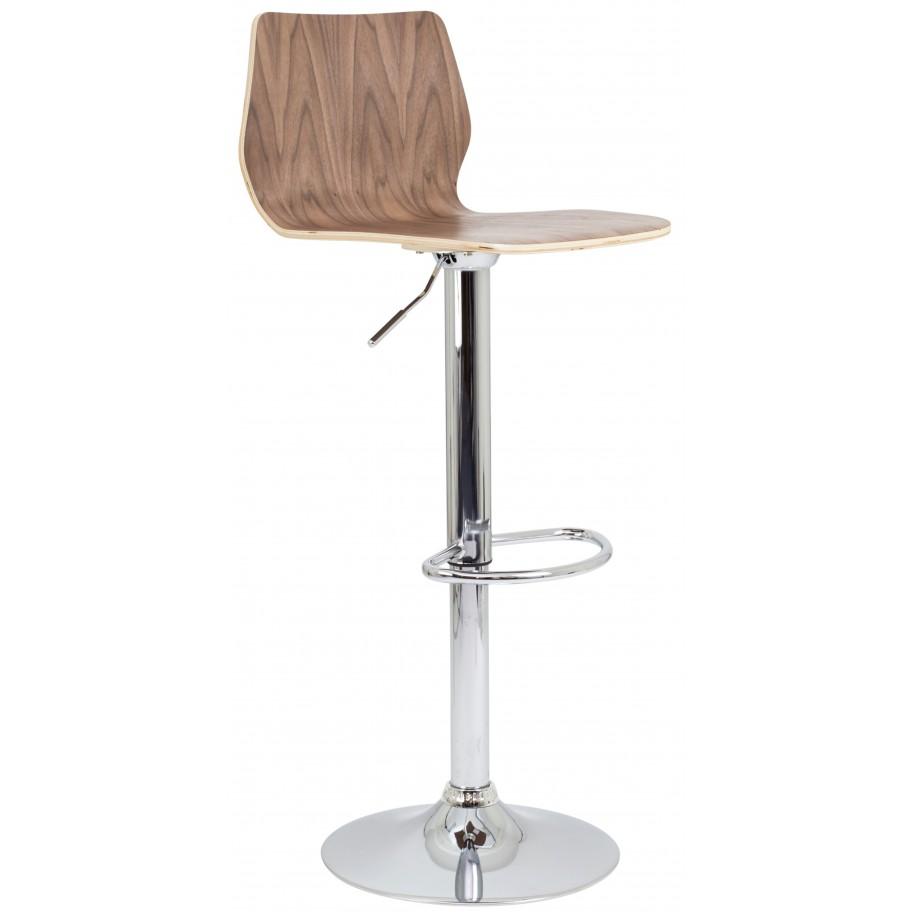 Stork Height Adjustable Wooden Bar Stool