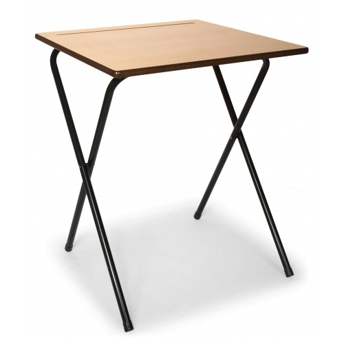 Titan Wooden Beech Folding Exam Desk