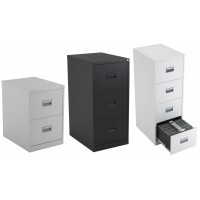 Thurrock Lockable Steel Filing Cabinets - 40KG Capacity
