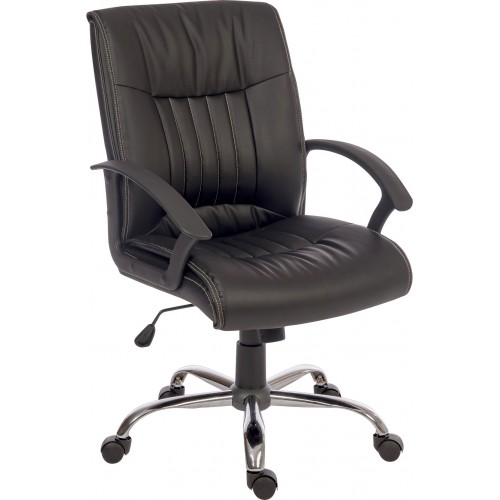 Milan Black Leather Executive Chair