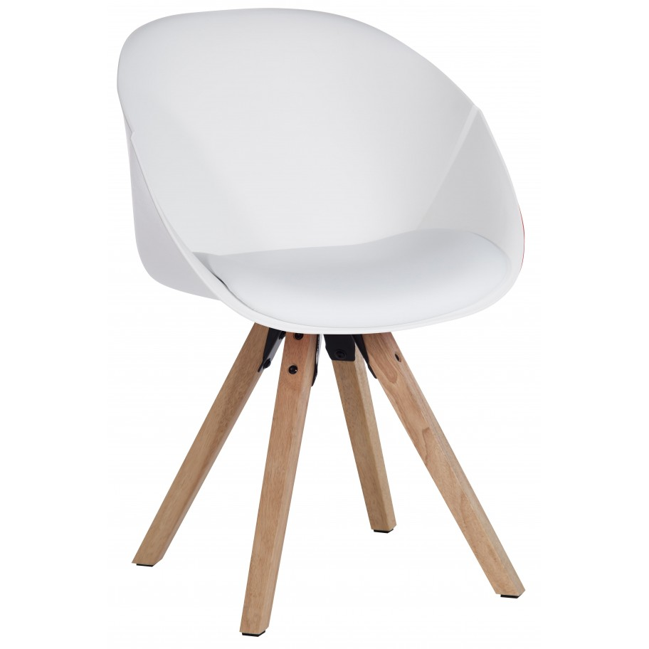 Pyramid Padded Breakout White Tub Chair - PRICE FOR 2 CHAIRS