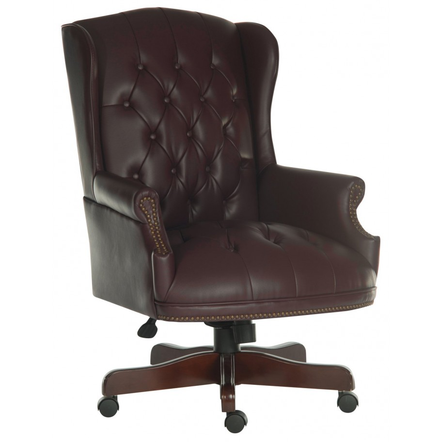 Commodore Traditional Leather Office Chair