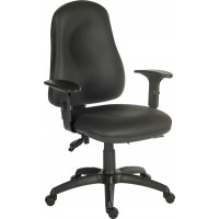 Ergo Comfort Black Leather Executive Operator Chair