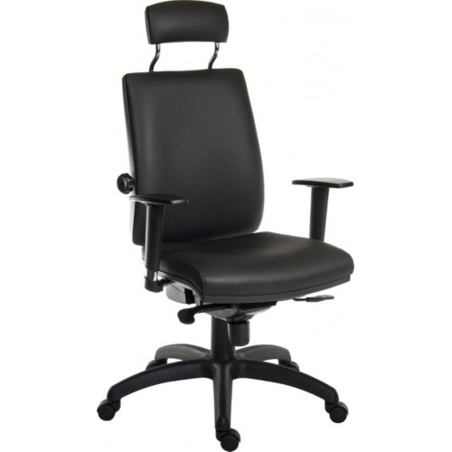 Ergo Plus Heavy Duty Wipe Clean PU Posture Office Chair