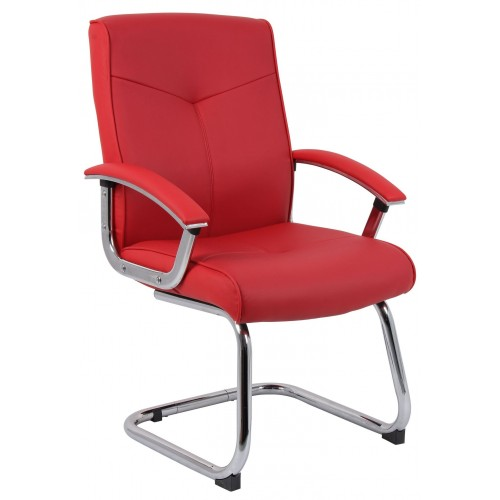 Hoxton Red Leather Visitor Chair