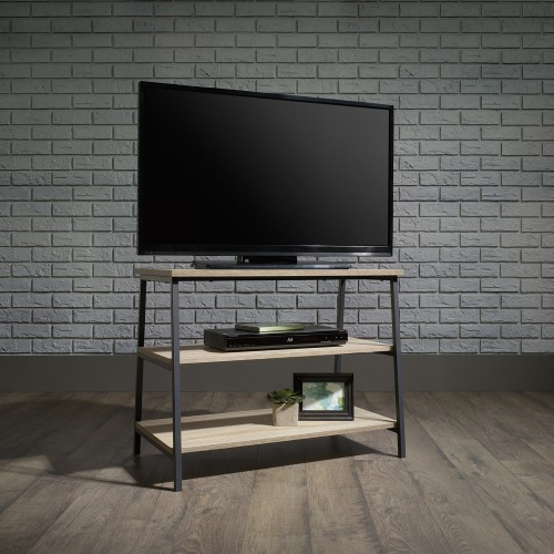 Industrial Style Oak TV Stand