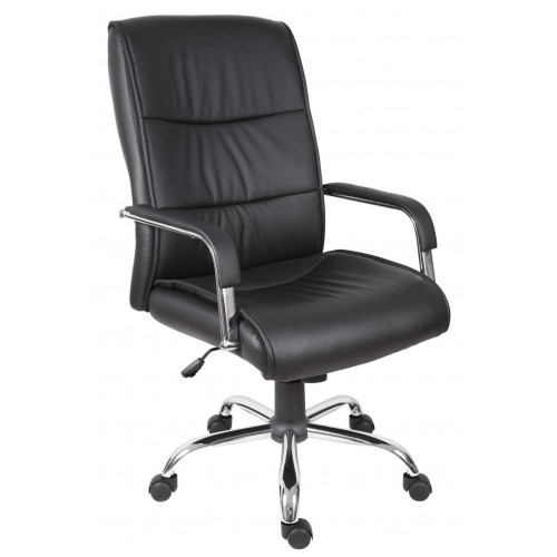 Kendal Leather Executive Chair - White or Black
