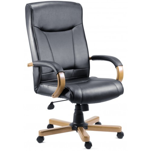 Kingston Black Leather Executive Office Chair