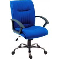 Milan Blue Fabric Executive Chair