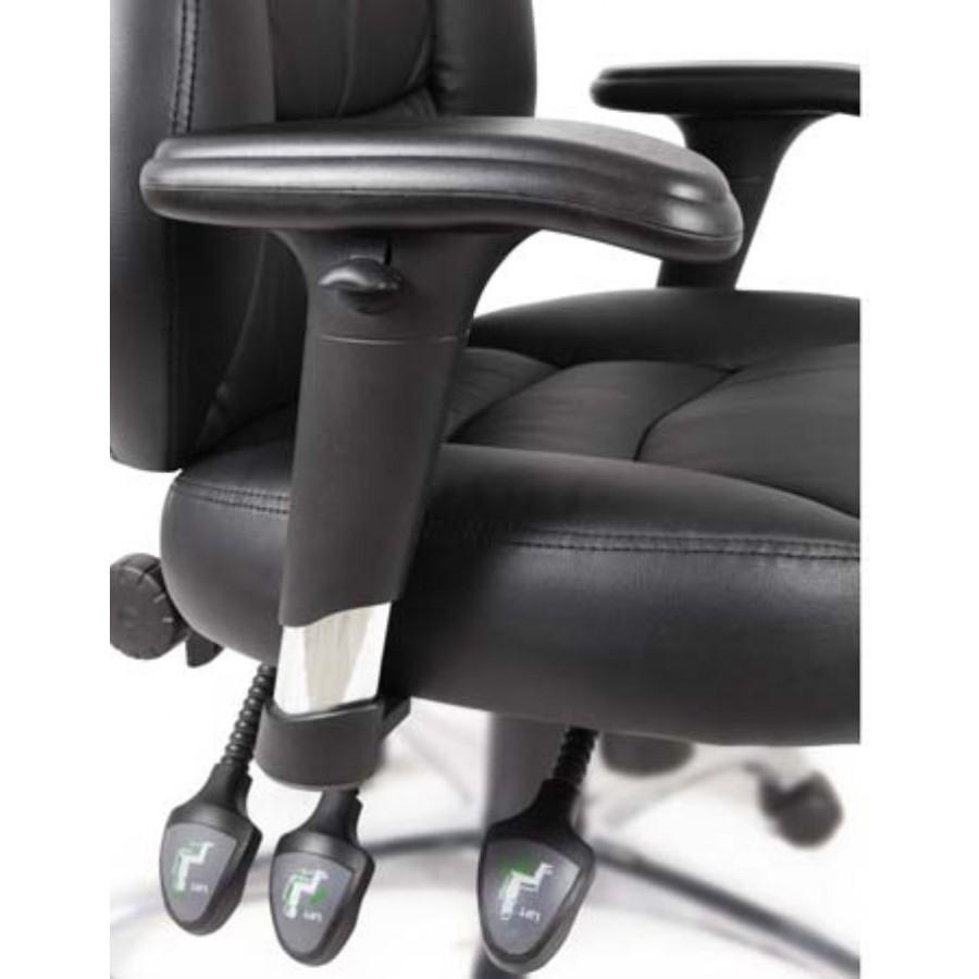 Portland Luxury Leather Black Operator Chair