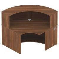 Invite 90° Convex Reception Base With Counter Top