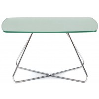 Spirit Lite Frosted Glass Top Table