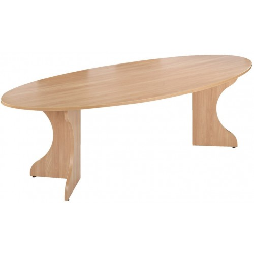 Elliptical Table with Gullwing Legs